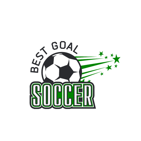 Vector soccer team football ball goal icon