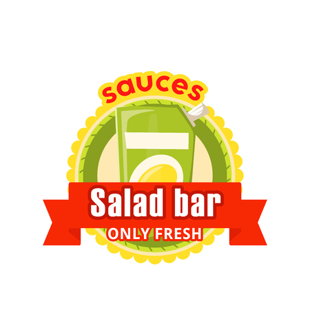 Vector icon for fast food salad bar cafe bistro