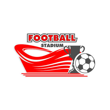 Vector soccer cup match football arena vector icon Illustration