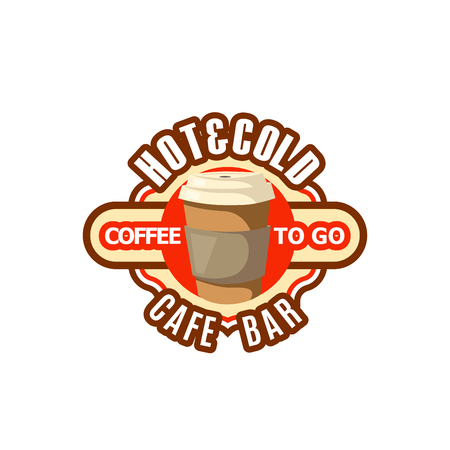 Vector icon of coffee cup fast food drinks to go