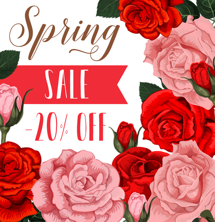Spring sale poster design template Stock Vector - 96756935