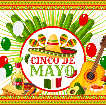 Poster Cinco de Mayo design template