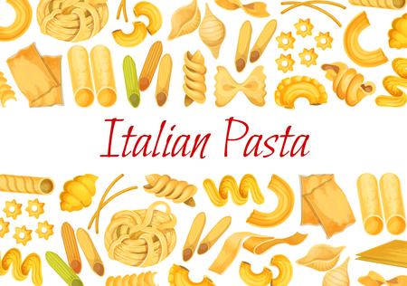 Vector Italian pasta restaurant poster 일러스트