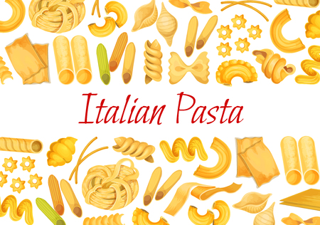 Vector Italian pasta restaurant poster Vettoriali