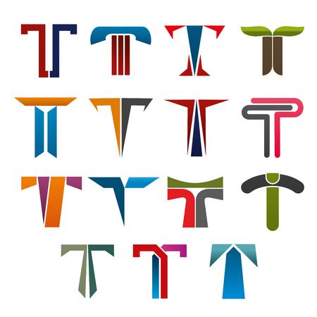 lettre t vecteur icône de conception de l & # 39 ; entreprise de marque signe . illustration