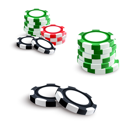 Casino and poker gambling chips vector illustration. Ilustrace