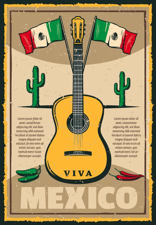 Mexican holiday Cinco de Mayo fiesta sketch poster illustration.