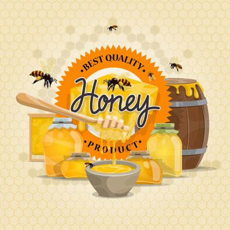 蜂蜜製品ベクターミツバチの設計  イラスト・ベクター素材