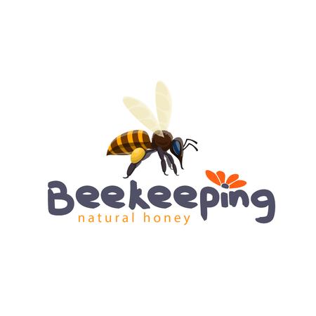 양 봉 제품에 대 한 꿀 꿀벌 벡터 아이콘 일러스트