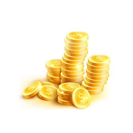 Vector stack of gold coins icon