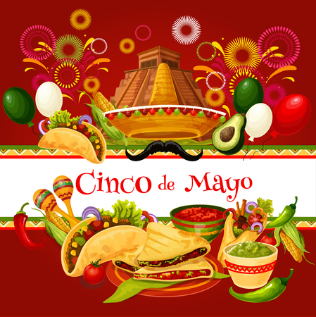 Cinco de Mayo mexican holiday greeting card