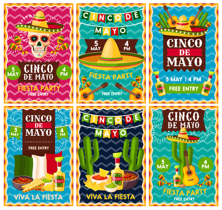 Cinco de Mayo mexican fiesta party banner design Stock fotó - 98766805