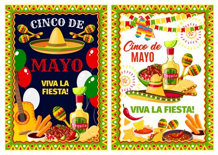 Mexican Cinco de Mayo holiday greeting banner