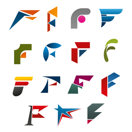 Business corporate identity symbol of letter F Stock Vector - 99087139