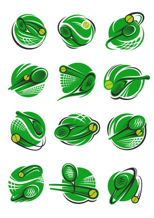 Tennis ball icon for sport club and tournament