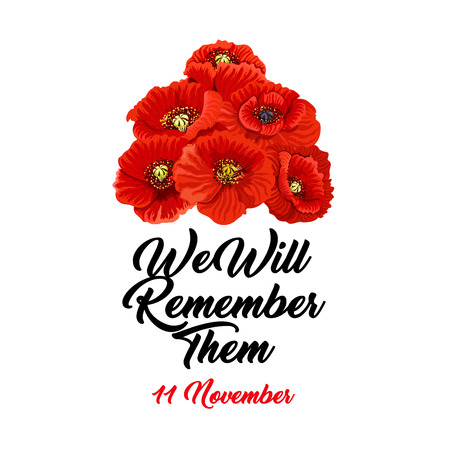 Vector we will remember them Stok Fotoğraf - 99728091