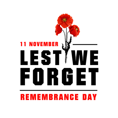 Vector poster for Remembrance day