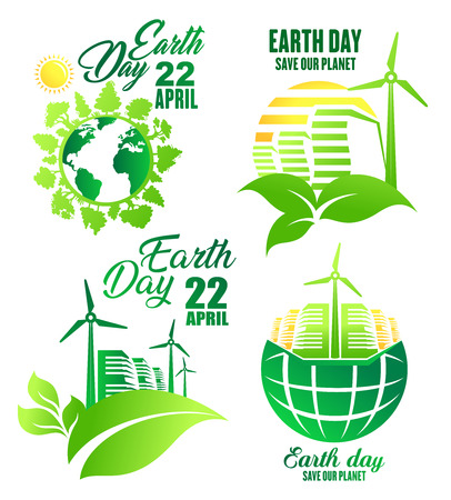 Earth Day icon for ecology and environment design