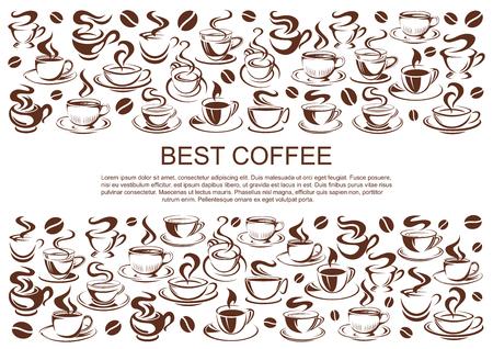 Vector el cartel del café de café de tazas de café Foto de archivo - 100030310