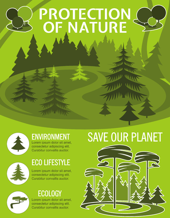 Save Planet poster for ecology nature protection
