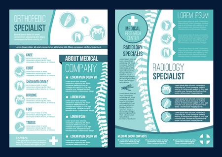 Broszura wektorowa dla ośrodka zdrowia ortopedii