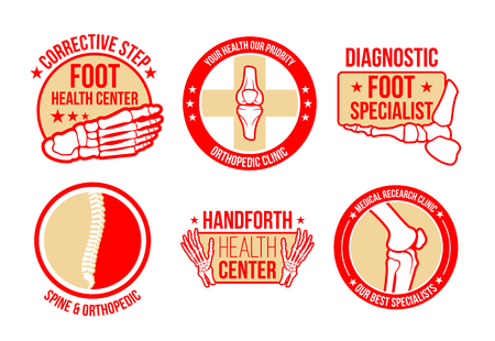Vector icons for orthopedics health center