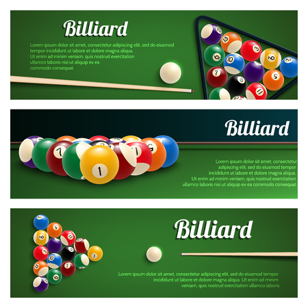 Billiards sport banner for snooker and pool design Archivio Fotografico - 101089344