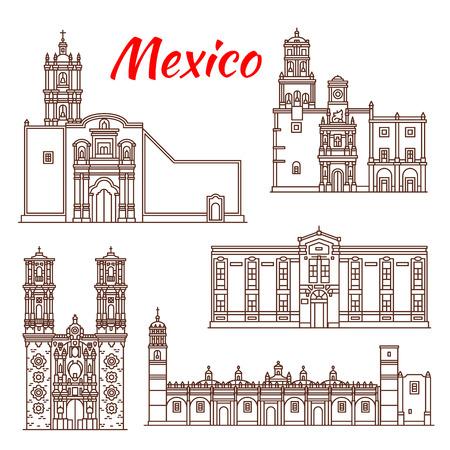 Mexican travel landmark icon for tourism design Vector illustration.