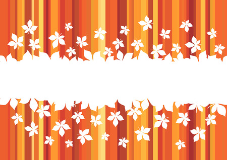 Autumn leaf banner with border of orange and red maple foliage. Fallen leaf greeting card with copy space in center for Autumn Holiday Celebration and Fall Season themes design
