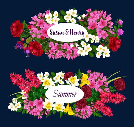 Vector floral design for wedding or summertime Illustration