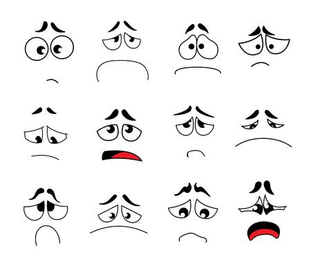 Funny cartoon eyes vector set Illustration