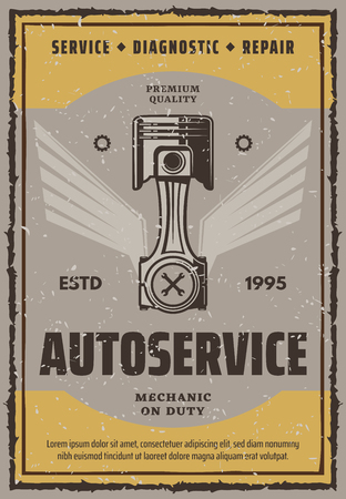 Autoservice vector banner