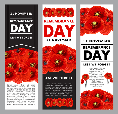 Vetical posters fo remembrance day