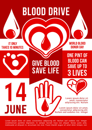 Blood donation vector poster