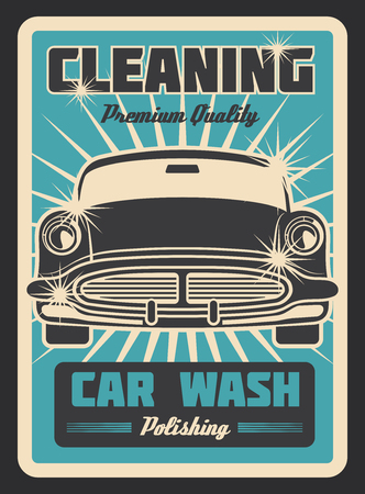 Cleaning car vintage poster