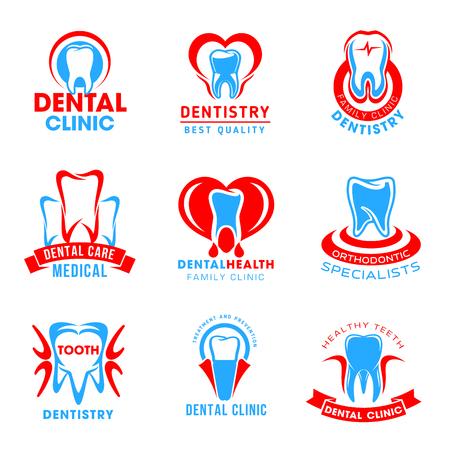Vector set of dental clinic icons Ilustração