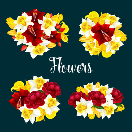 Flower vector pattern or poster