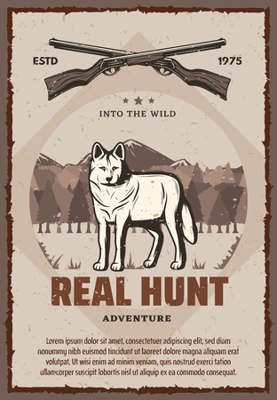 Real hunt vector poster