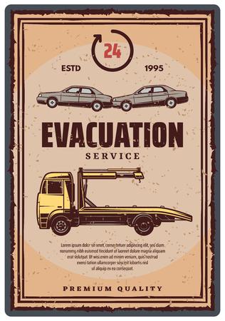 Evacuation service retro poster