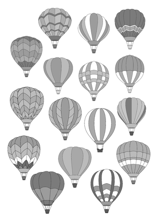 Air balloon isolated vector icons set Фото со стока - 102346463