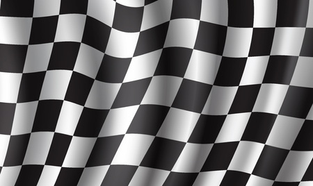 Racing flag 3d background for race sport design Ilustração