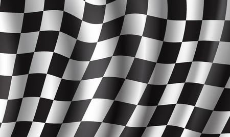 Racing flag 3d background for race sport design Illustration