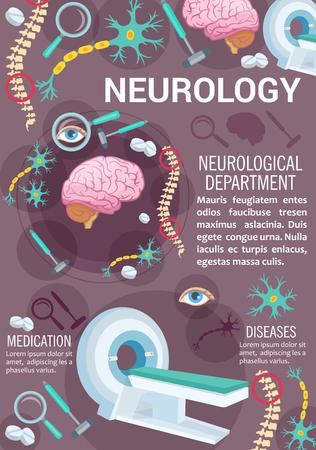 Neurology disease diagnostic clinic banner design