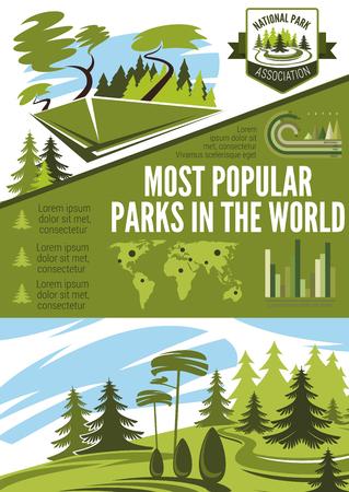 Landscape architecture or horticulture infographic Ilustração