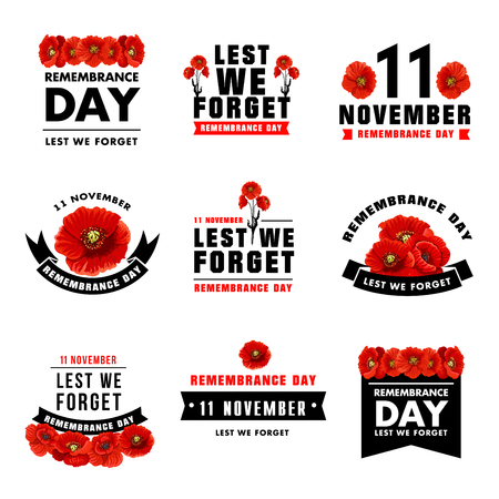 Red poppy flower icon for Remembrance Day design 스톡 콘텐츠 - 103988991