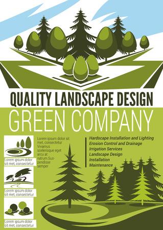 Park and garden landscape design company banner