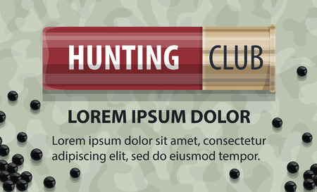 Vector hunting club open season poster