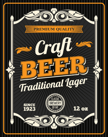 Vector craft beer premium quality poster Vettoriali