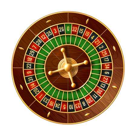 Casino roulette wheel 3d vector of gamble game