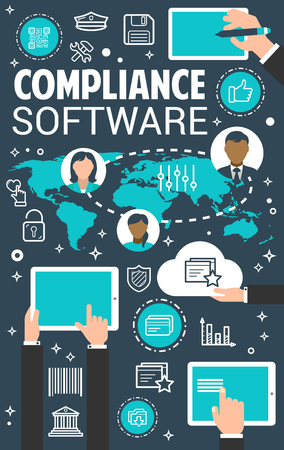 Compliance management software concept banner
